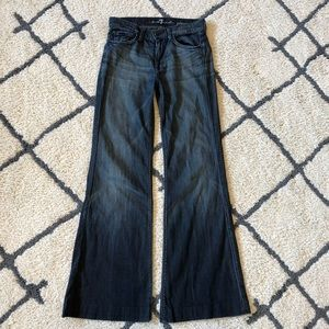 7 for all Nanking jeans ginger flare